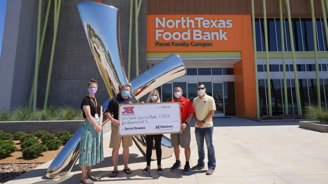 JB Warranties donates to North Texas Food Bank