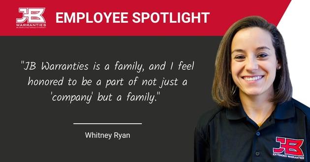 Employee Spotlight - Whitney Ryan